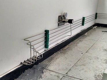 过墙气体管路连接及用气端
